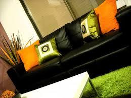 Lime Green Shag Rugs Living Room Orange Lime Green Shaggy Rug Black Couch Sofa