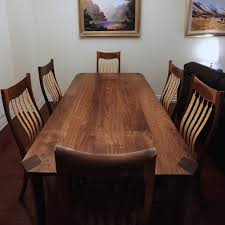 Maple Dining Room Table And Chairs Bespoke Walnut Dining Table Chairs