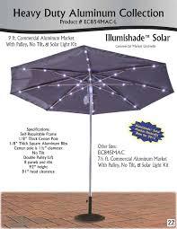 Solar Lights For Umbrella by Sunbrella Solar Powered Led Lighted Logo Umbrella 9 Ft