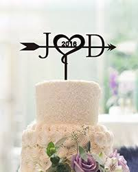unique wedding cake topper unique wedding cake toppers letter personalized