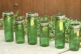 top 28 vintage glass canisters kitchen items similar to vintage