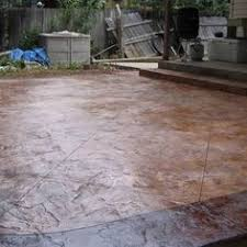 Textured Concrete Patio by Stamped And Stained Concrete Flagstone Patio Love All Of The