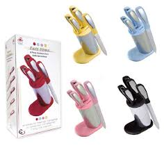 cutlery caddy grand sales 6 piece stainless steel knife block set