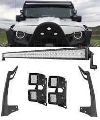 jeep light bar bumper for jk 52