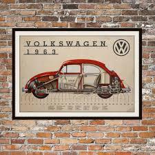 vintage volkswagen bug volkswagen bug cutaway of 1963 vintage volkswagen beetle