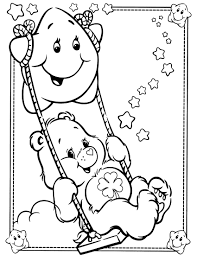 care bears posing clouds baby bear coloring