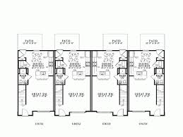 three plex floor plans eplans traditional house plan stylish fourplex 4212 square