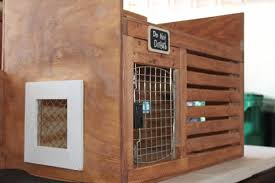 Dog Crate Furniture Bench Custom Dog Crate And Bench Aftcra