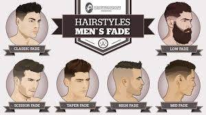 mens haircuts chart men s hairstyles a simple guide to popular and modern fades
