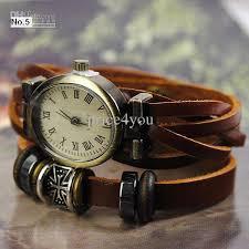 ladies leather strap bracelet images Vintage ladies womens genuine leather band cuff hemp bracelet jpg
