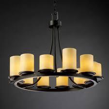 Flat Chandelier Buy Candlearia Dakota 16 Light Chandelier Metal Finish Dark