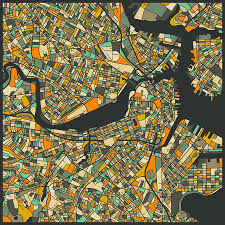 Boston Maps by Boston Map Digital Art By Jazzberry Blue