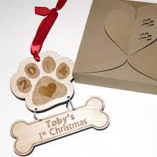 personalized engraved dog memorial christmas ornament lazerworx