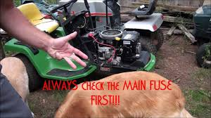 how to troubleshoot and diagnose a john deere riding lawnmower