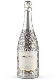 silver wine bottles buy glitter bottle wine and give back with every bottle onehope