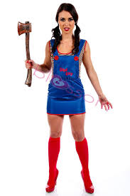 chucky costumes seed of chucky doll womens costume blossom costumes