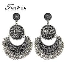 silver chandelier earrings fanhua jewelry chandelier earrings antique gold color silver color