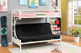White Futon Bunk Bed Furniture Of America Cm Bk1034wh Rainbow White Metal Bed With