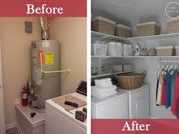 23 best budget friendly laundry room makeover ideas and designs laundry closet with extra shelves and hanging space