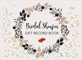 bridal gift record book bridal shower gift record book gift log guest book for bridal
