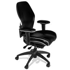 Leather Office Chair The Heated Lumbar Office Chair Hammacher Schlemmer