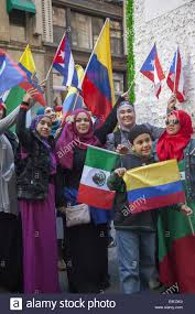 Latin Country Flags Hispanic Day Parade On 5th Avenue In Nyc Hispanic Muslims Stock