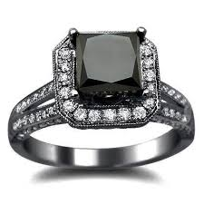 black band engagement rings black and white engagement ring for wedding or engagement black