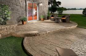 CONCRETE Patio On Slope Best Patio Materials Yard Ideas - Concrete backyard design ideas