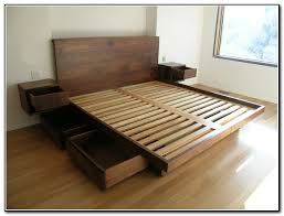 Bed Frame Plans With Drawers California King Storage Bed Frame Cal King Bed Frame With Storage