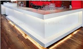 Translucent Corian Corian Top Quality Designed Rcd 020 Lighted Corian Bar Counter