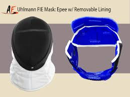 Removable by Uhlmann Fie Mask Epee Removable Absolute Fencing Gear