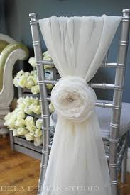 wedding chair bows new cloud 7 fabric flower wedding chair sash bridal