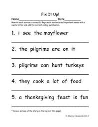 fix the letter commas and capitalization spelling worksheets