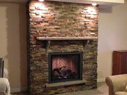 gas fireplace stone attractive inspiration master bedrooms