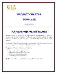 best photos of charter document example project charter template
