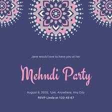 mehndi invitation design templates canva