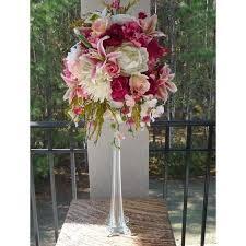 tall eiffel glass vase white clear black 12 16 20 24 28 32