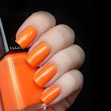 nail varnish in gamma neon orange chip resistant illamasqua