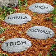 personalized garden stones personalized family character stepping walmart