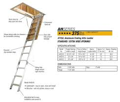 werner aluminum attic ladders ceiling height 7 ft 8 in to 12 ft