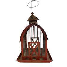 shop backyard glory reddish bronze metal hopper bird feeder at
