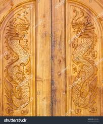 dragon wood door texture chinese village stock photo 96369881