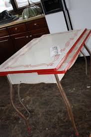 50s style kitchen table intriguing nice old vintage retro table in auction with feet padded