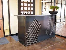 Metal Reception Desk Other Works Reception Desk Partially Reclaimed Steel With Clear
