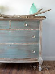 How To Repaint Wood Furniture by Beachy Wood Plank Dresser Helen Nichole Designs Milk Paint