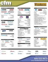 Comfort Products Distributing Omaha Line Card Cfm Distributors Inc