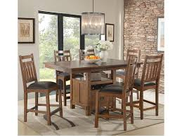 table height kitchen island intercon oak park gathering height kitchen island style table with