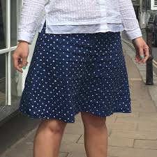hand painted spots on irish linen skirt stone fabrics and sewing