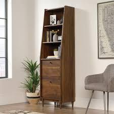 3 shelf narrow bookcase sauder harvey park 3 shelf narrow bookcase in grand walnut