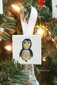 mini canvas thumbprint ornaments